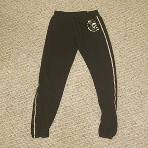 Justice size 12 gold and black sweatpants